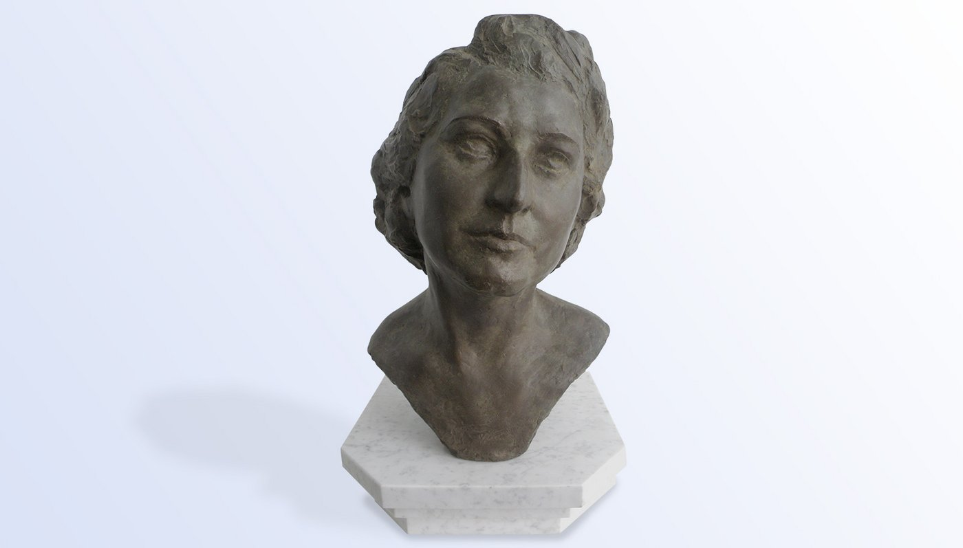 Trude Eipperle Rieger bronze bust